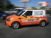 Charleston SC Vehicle Wrap Viva Chicken
